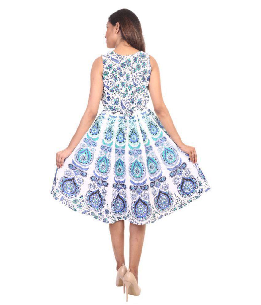 26622e350 ... Decot Paradise Presenting Jaipuri Women Skirt Cotton short Length  Printed New Fashion Dress