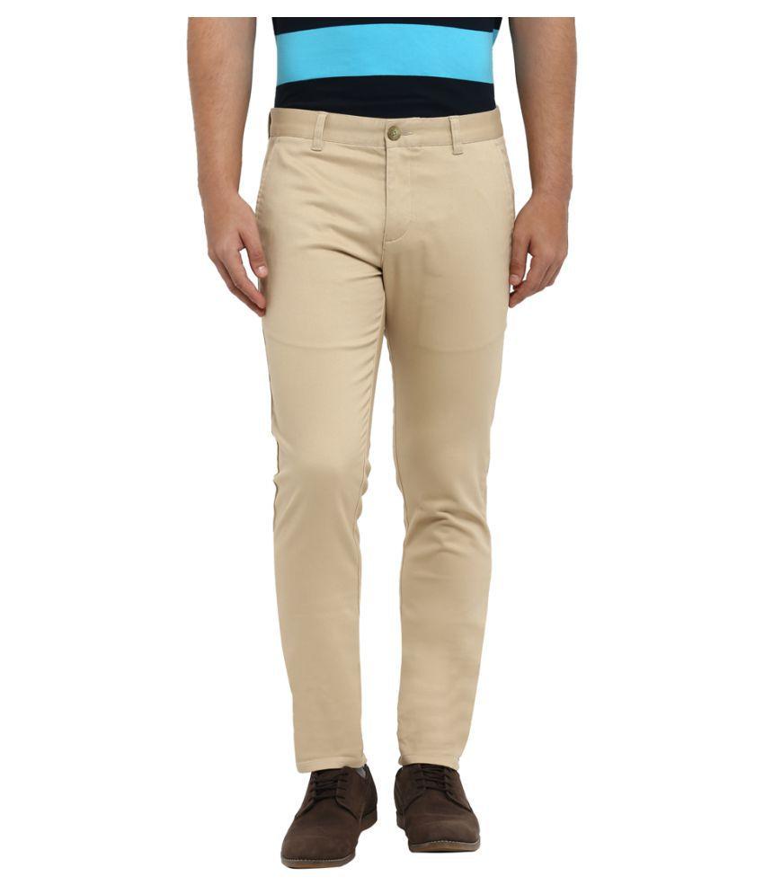 Colorplus Khaki Tapered -Fit Flat Trousers