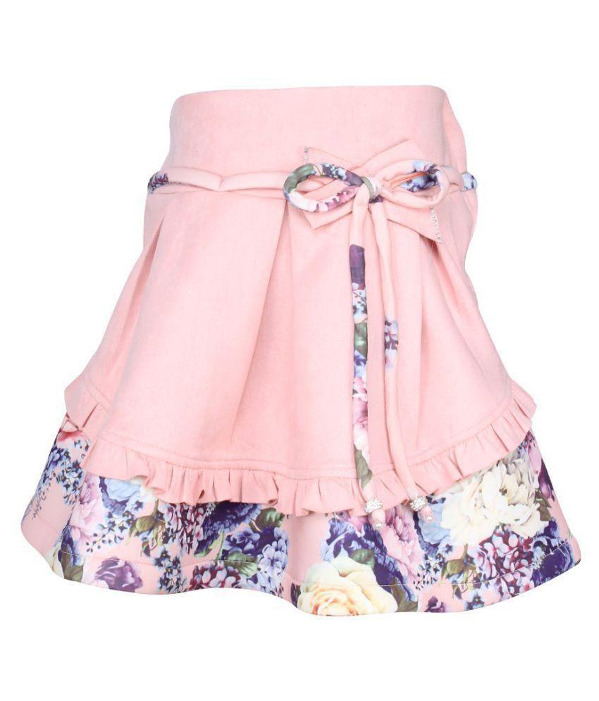 Cutecumber  Girls Partywear Suede Skirt