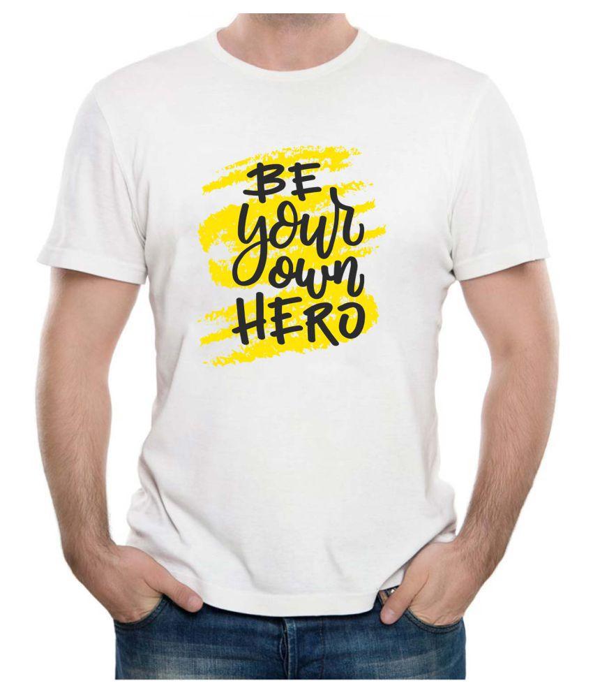 AlwaysGift White Half Sleeve T-Shirt Pack of 1