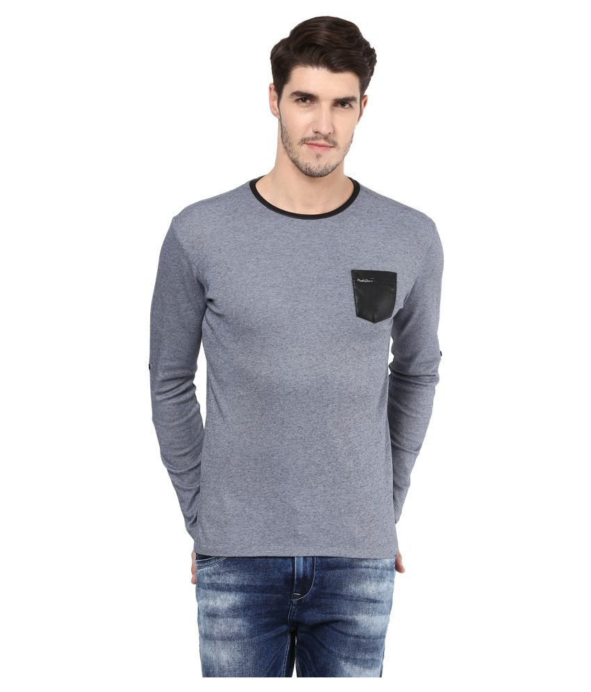 Mufti Grey Full Sleeve T-Shirt