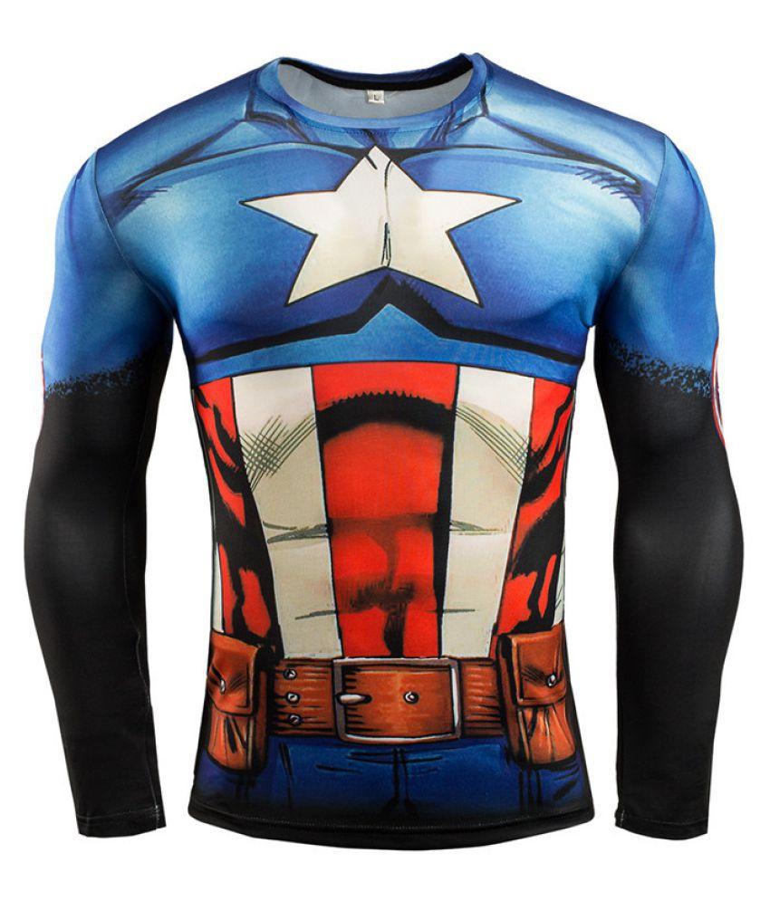 Men's Sports Fitness Long Sleeve T-Shirt Avengers Sportswear
