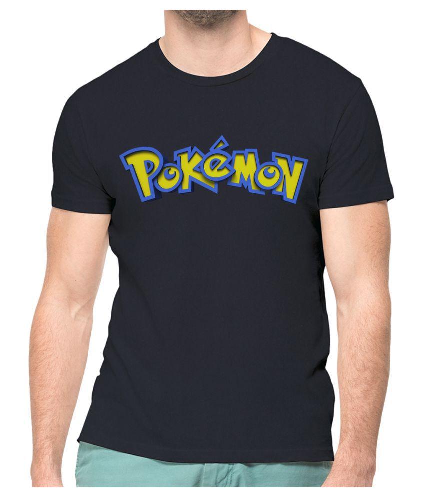 NUTSPIN Black Half Sleeve T-Shirt