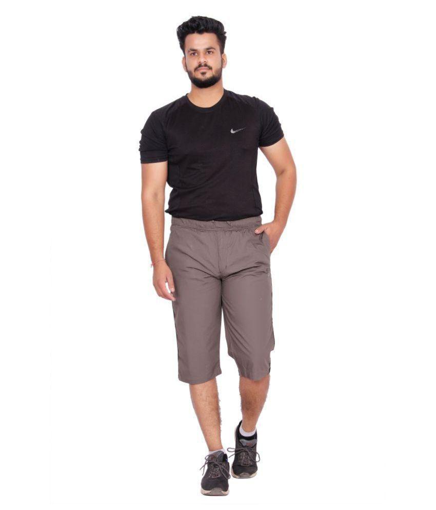 Kuber Industries Cotton Knee Length Capri for men  (Green)