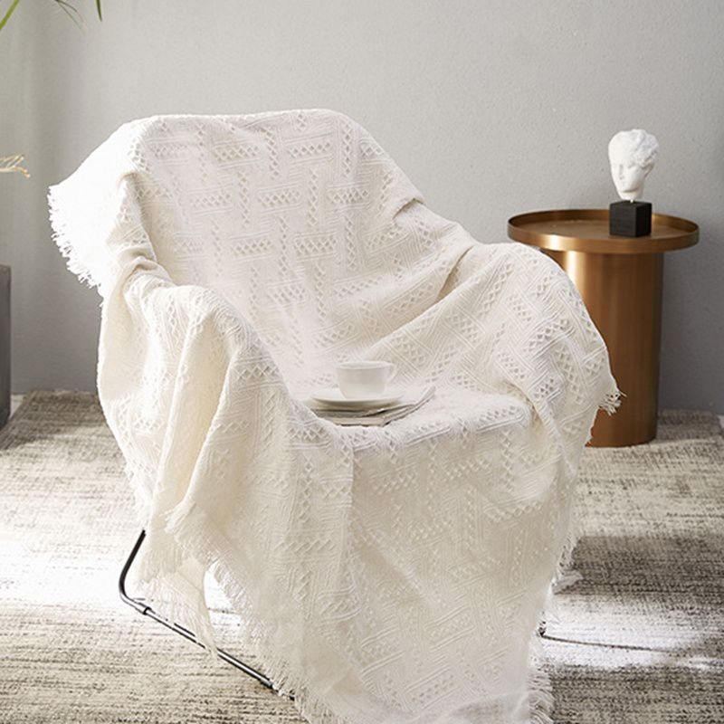 Pleasing Yagines Plain Weave Fringed Blanket Cotton Throws Tapestry Bralicious Painted Fabric Chair Ideas Braliciousco