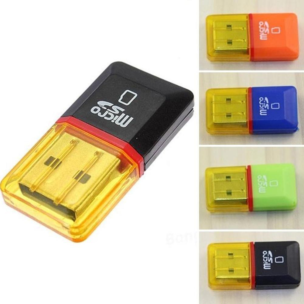 2 Pcs USB 2.0 Mini Micro SD TF Card Reader Adapter Memory T-Flash Card Reader