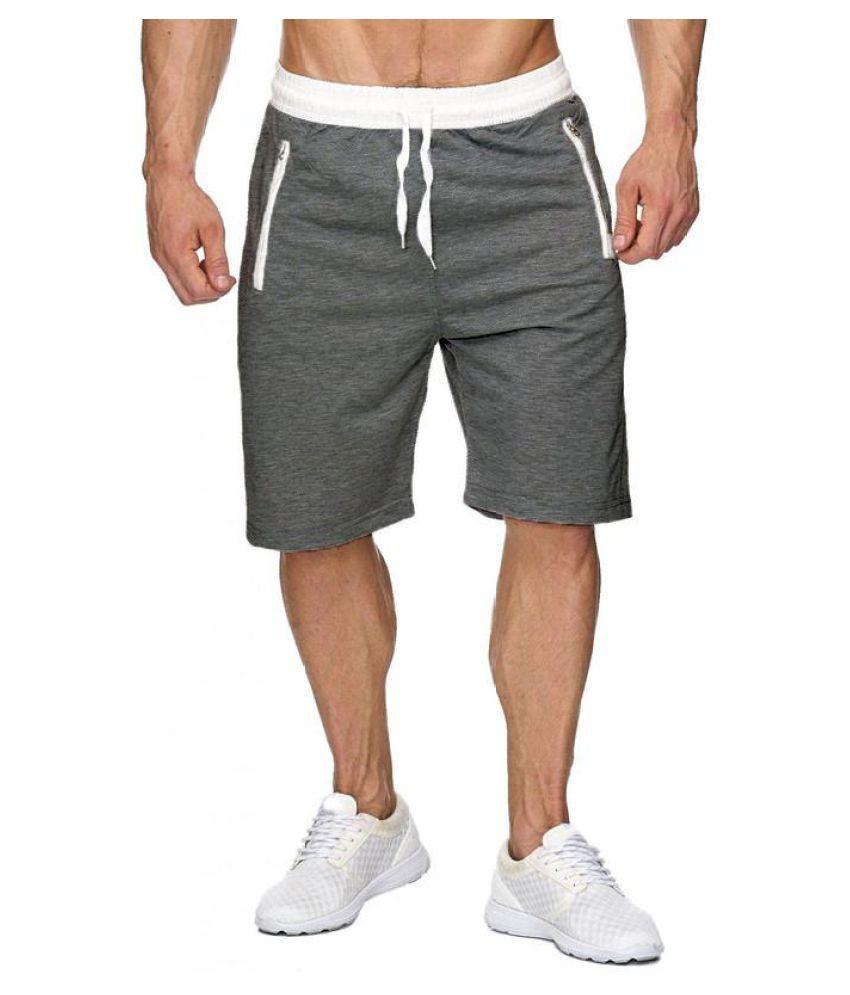 US STOCK Men Sport Gym Jogger Casual Jogger Pocket Short Trousers Sweatpants