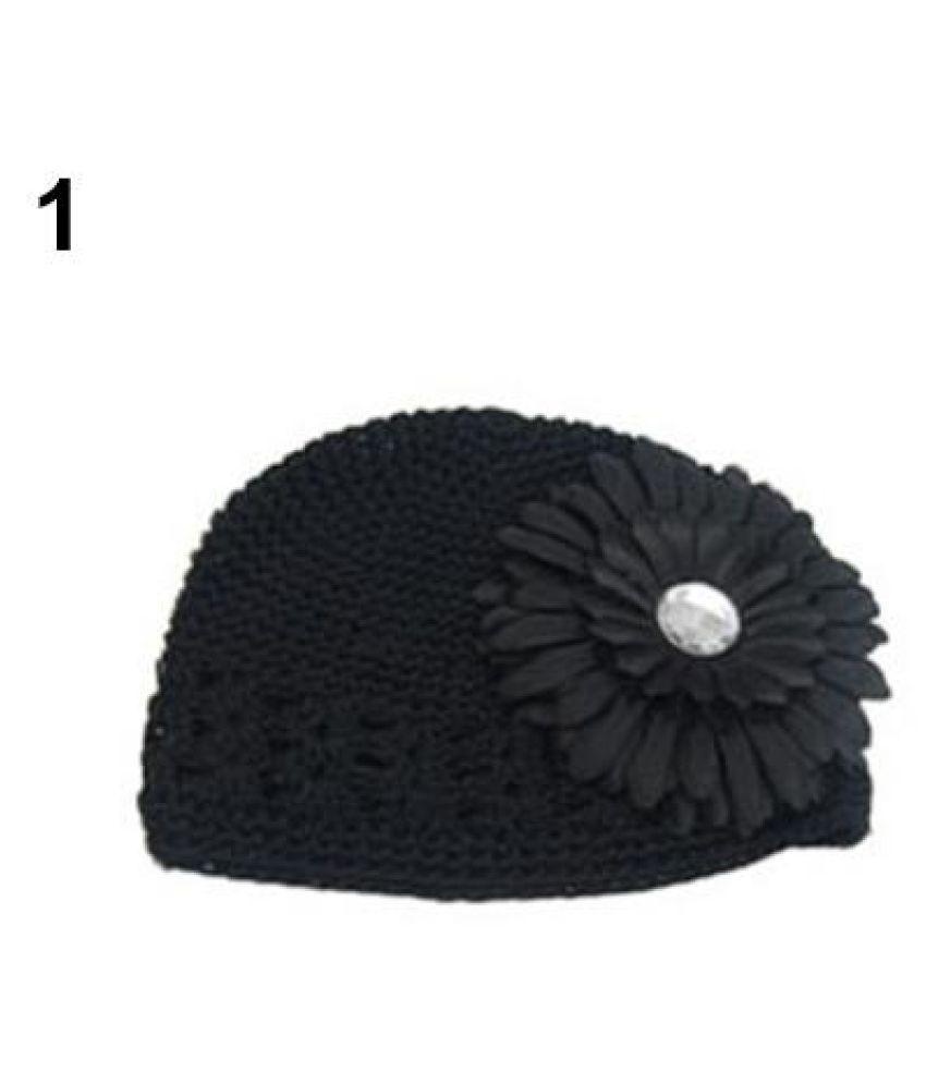 0a9b7ca2da5 ... Baby Infant Toddler Winter Warm Knitted Crochet Beanie Hat + Daisy  Flower Clip ...