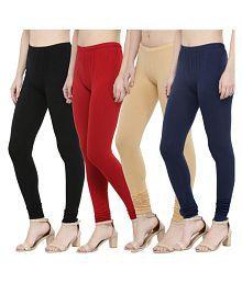 N-Gal Cotton Lycra Pack of 4 Leggings