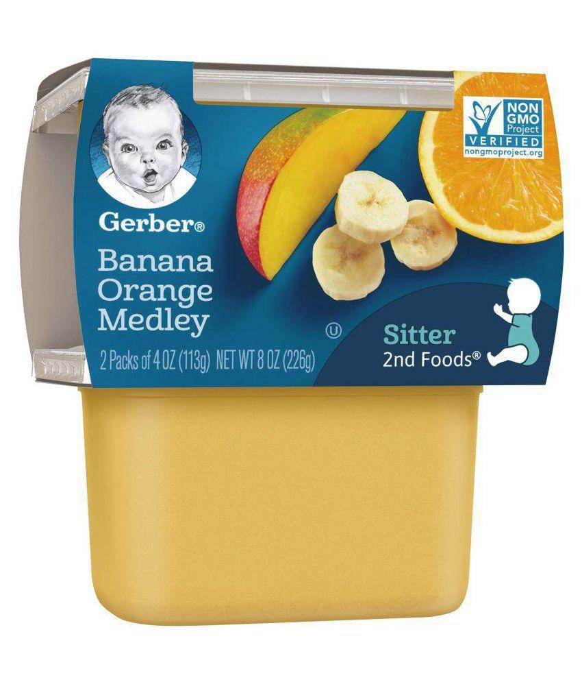 Gerber Banana Orange Medley Snack Foods for 6 Months + ( 226 gm )