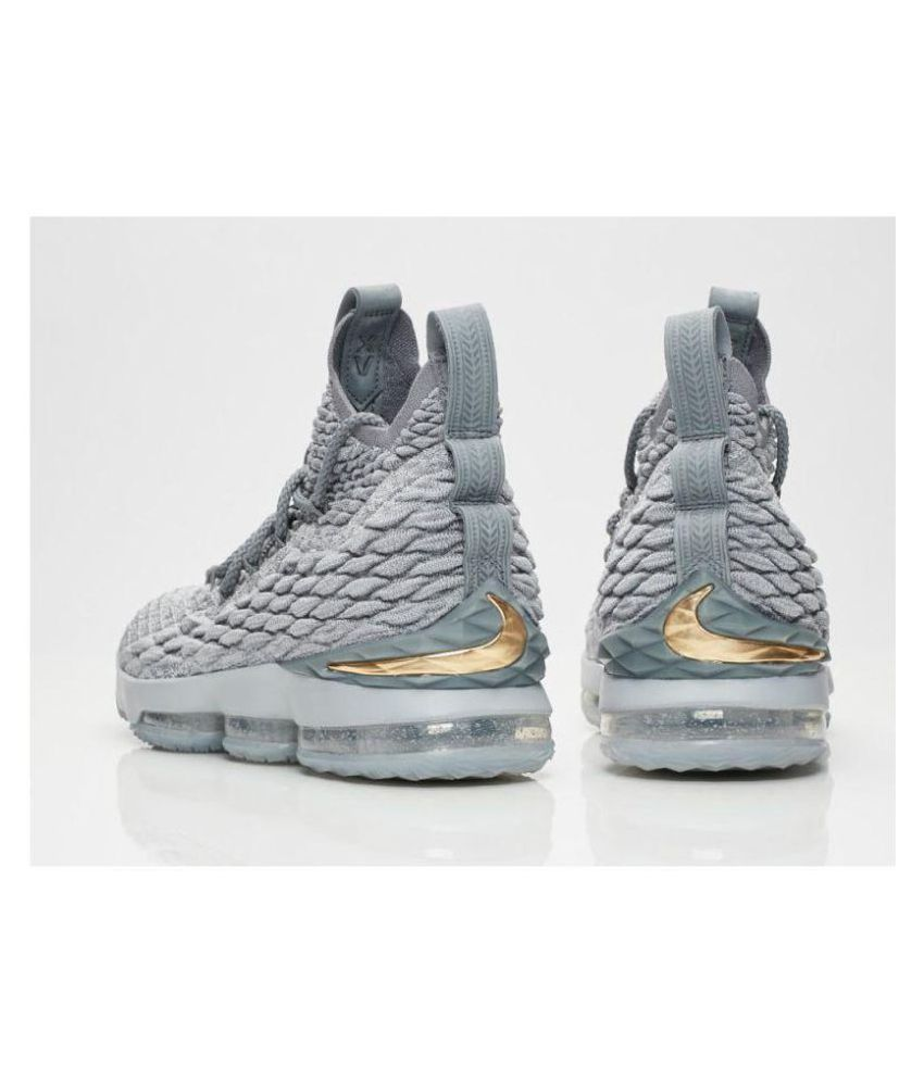 huge selection of d925d a40a6 Nike LEBRON 15 WOLF GREY Gray Basketball Shoes