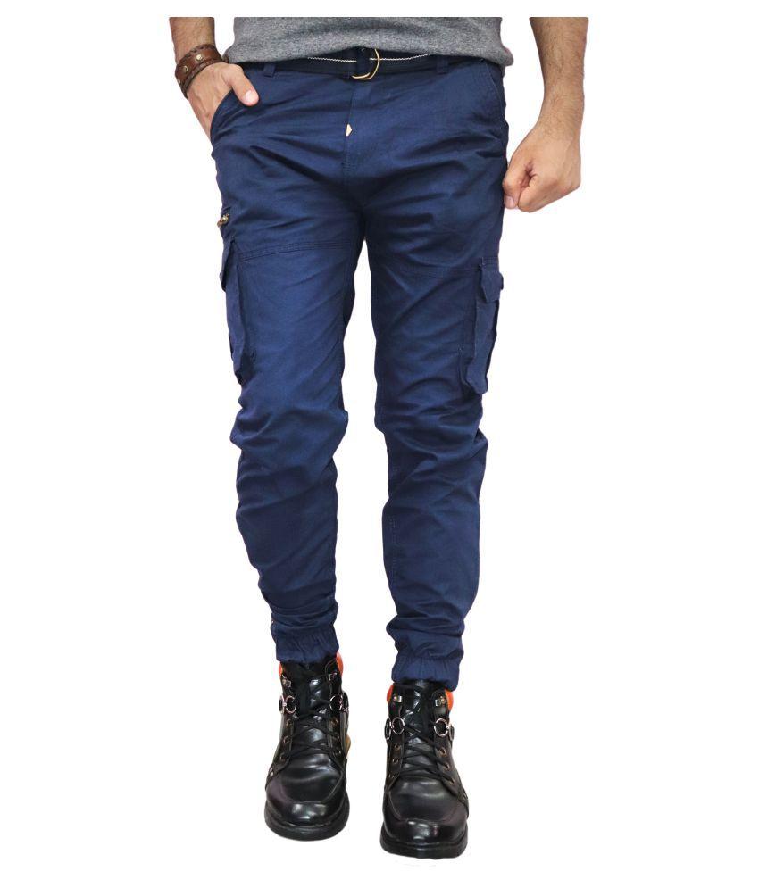 Urban Legends Dark Blue Regular -Fit Flat Cargos
