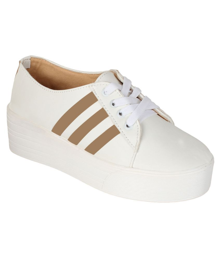 Authentic Vogue White Casual Shoes