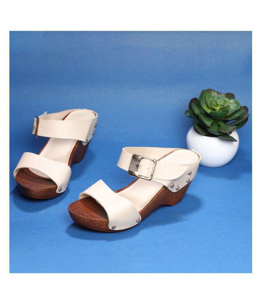 64dd9ee80d6 Sindhi Footwear Beige Wedges Heels Price in India- Buy Sindhi Footwear Beige  Wedges Heels Online at Snapdeal