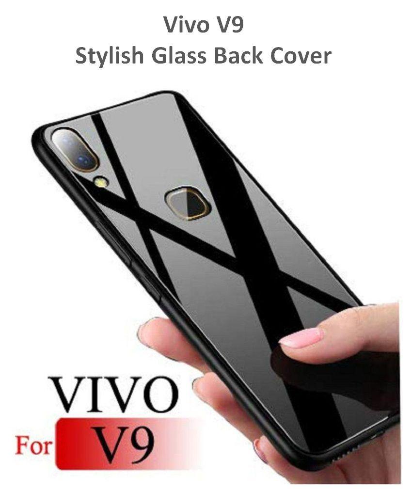 buy online d628c 565b2 Vivo V9 Glass Cover Karwan - Black