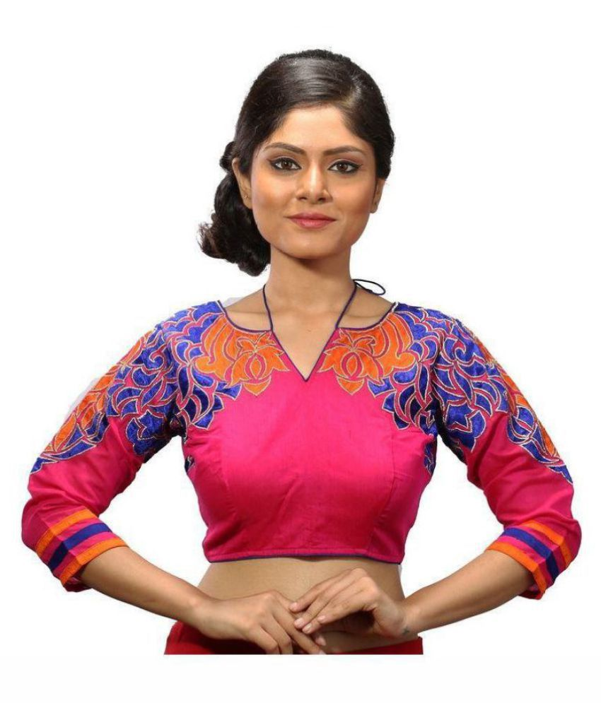 Intrigue Pink Silk Readymade without Pad Blouse