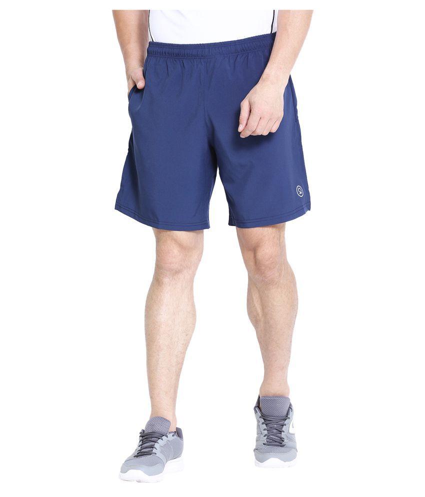 CHKOKKO Men s Running Gym Workout Regular Shorts for Men Navy Blue