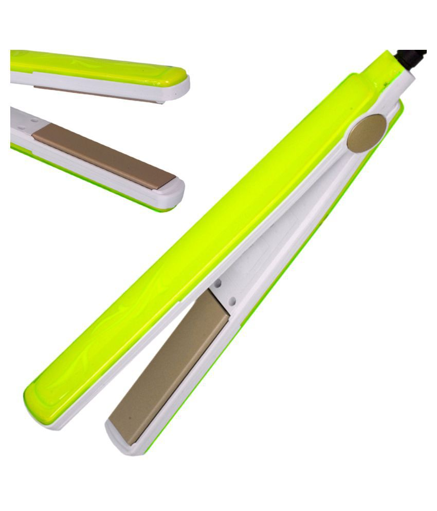 Jm Kemai Temperature Control Professional Travel Hair Straighteners Flat Iron 45W Hair Straightener ( Green & White )