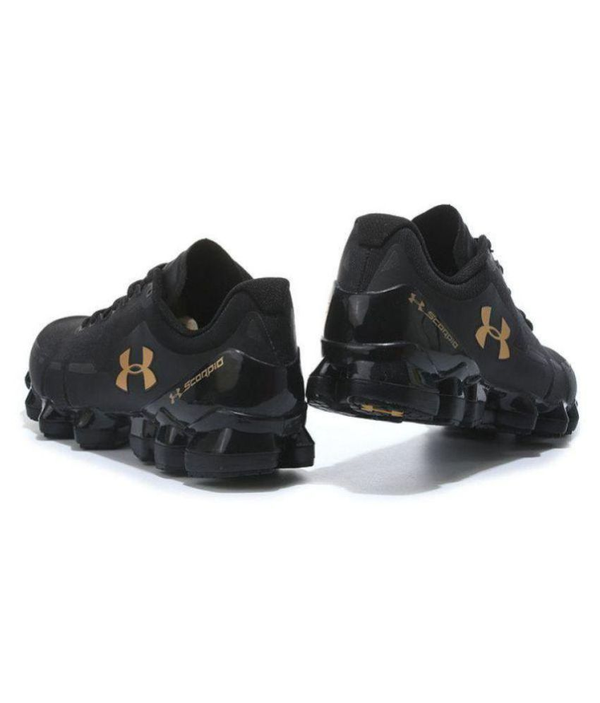 sports shoes 73077 32cc6 Under Armour Scorpio Black Running Shoes Black