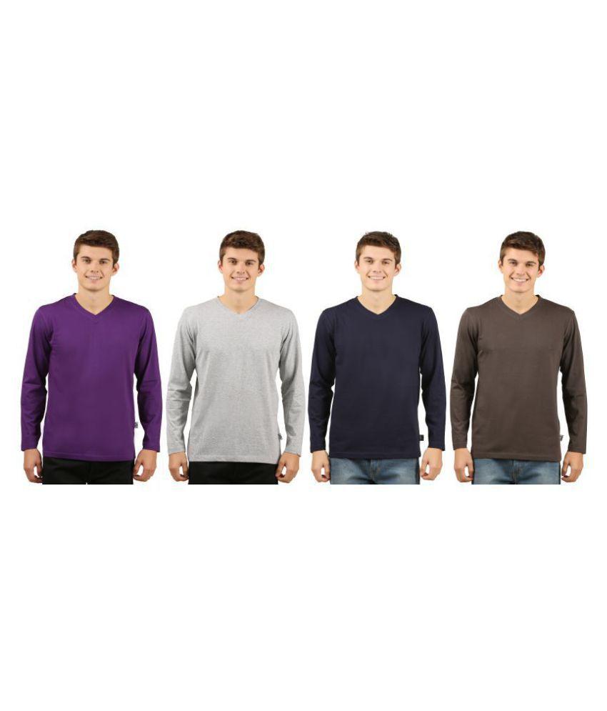Zebu Navy Full Sleeve T-Shirt Pack of 4