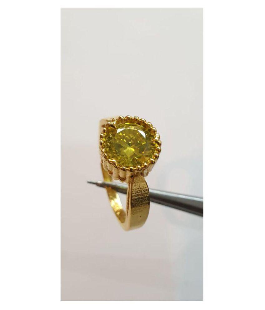Jaipur Gemstone Panch Dhatu Gold Ring