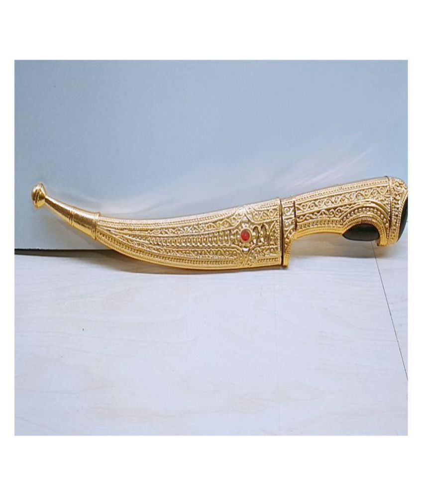 Royal Dreams Gold Plated shikh kirpan (Talwar) pack of 1
