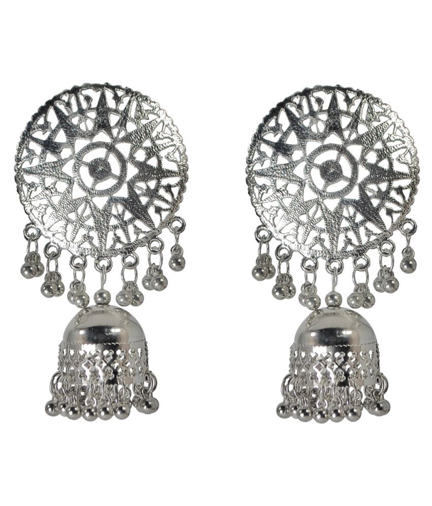 86cb1f3b1 Afghani Jhumka Earrings for Women, Afghani Tribal Oxidised Jhumki Dangler  for Girls, Afghani earrings ...