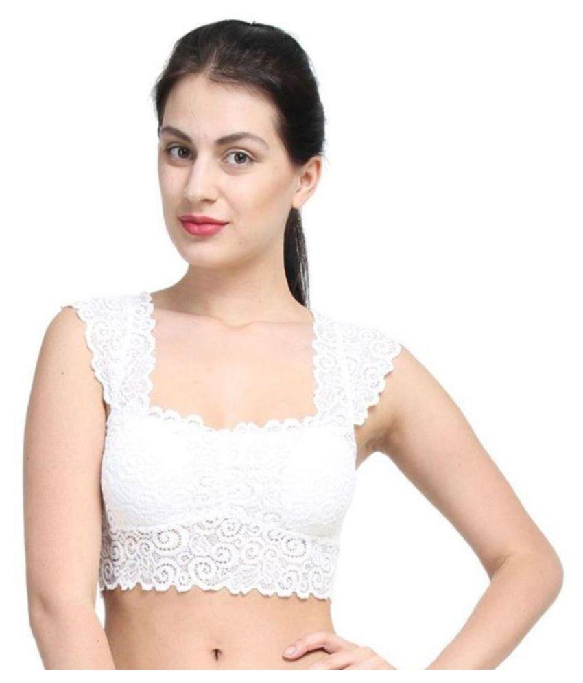 TCG Net/Mesh T-Shirt Bra - White