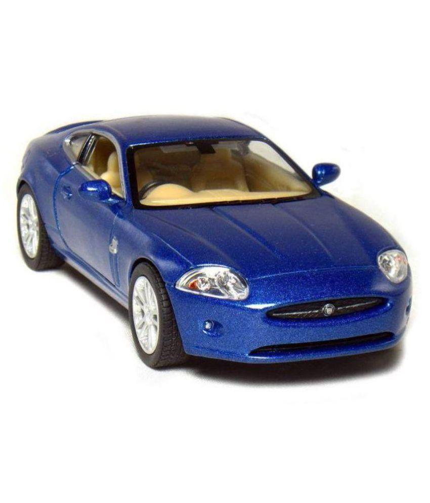 Authfort Jaguar Xk Coupe, Blue Kinsmart 5321 D 1/38 Scale Diecast Model Toy  Car (Multicolor)