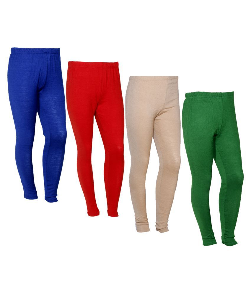 IndiWeaves Woollen Pack of 4 Leggings