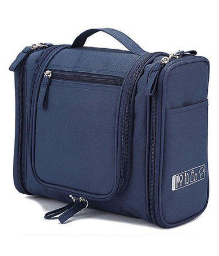 Kanha Blue Toiletry Bag with Hanging Hook (navy blue)