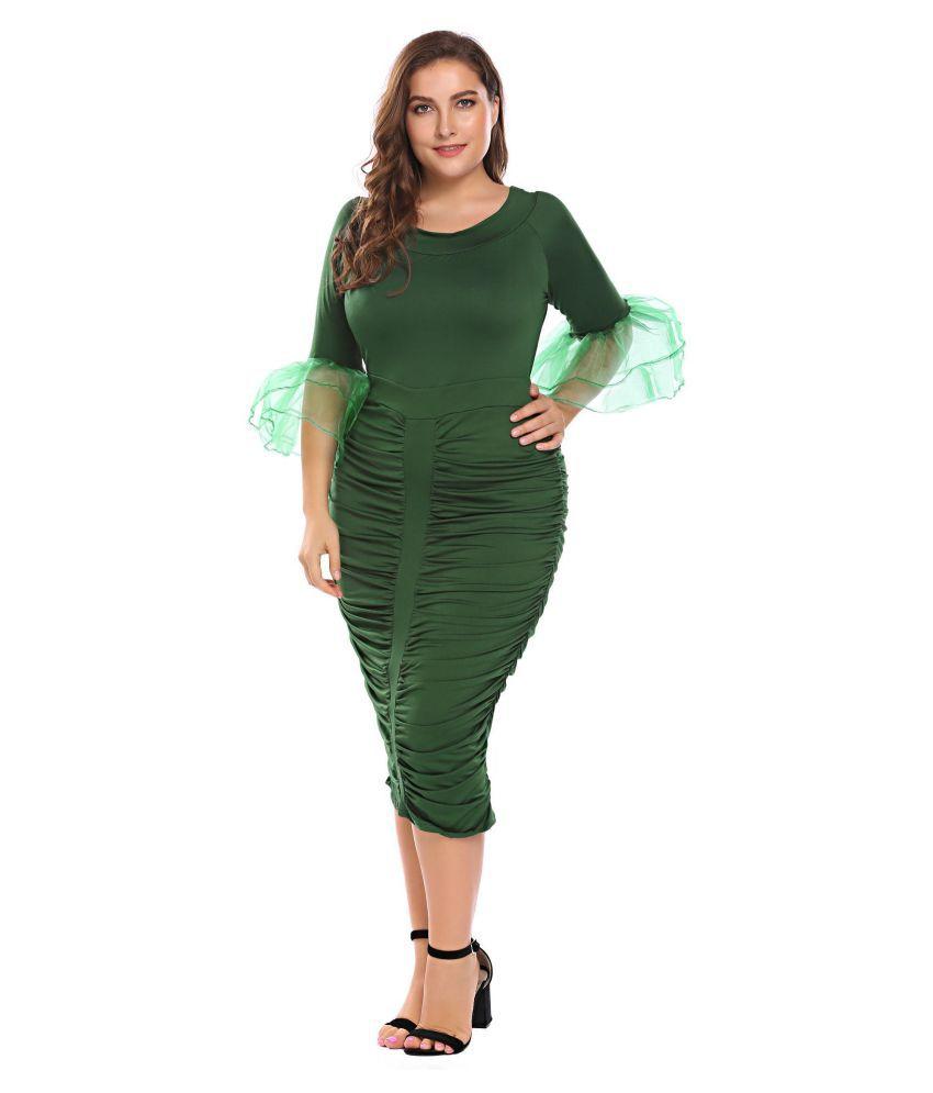 2240b947e09 Women Plus Size Party Cocktail Midi Dress - Buy Women Plus Size ...