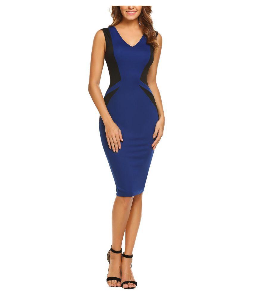 Women Casual V-Neck Sleeveless  Package Hip  Sexy Dress