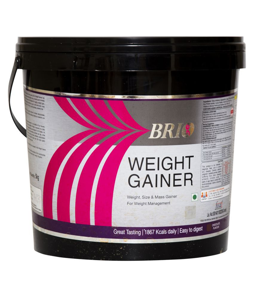 Brio Nutrition Super Weight Gainer - Rich Chocolate 5 kg Weight Gainer Powder