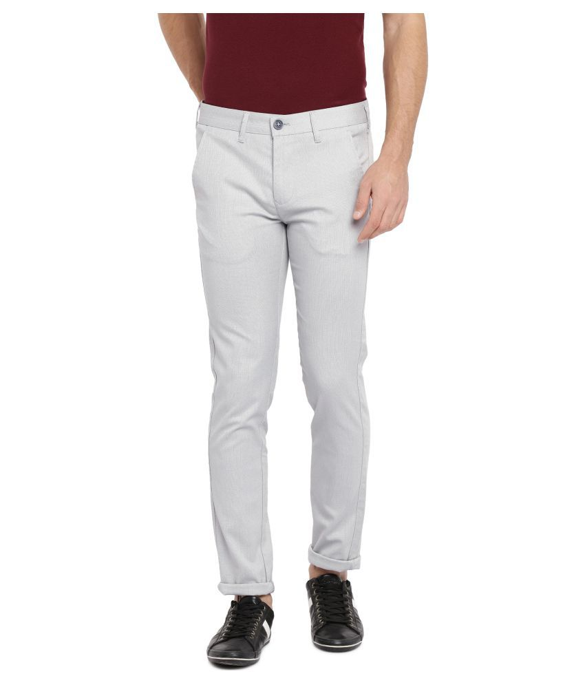 Killer Grey Slim -Fit Flat Trousers