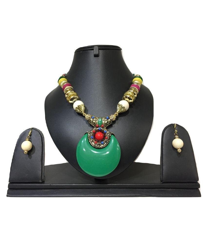 Stilvoll Brass Multi Color Statement Contemporary/Fashion None Necklaces Set