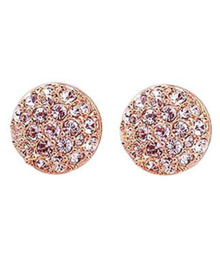 Women S Fashion Elegant Circle Crystal Rhinestone Ear Studs Earrings Jewelry