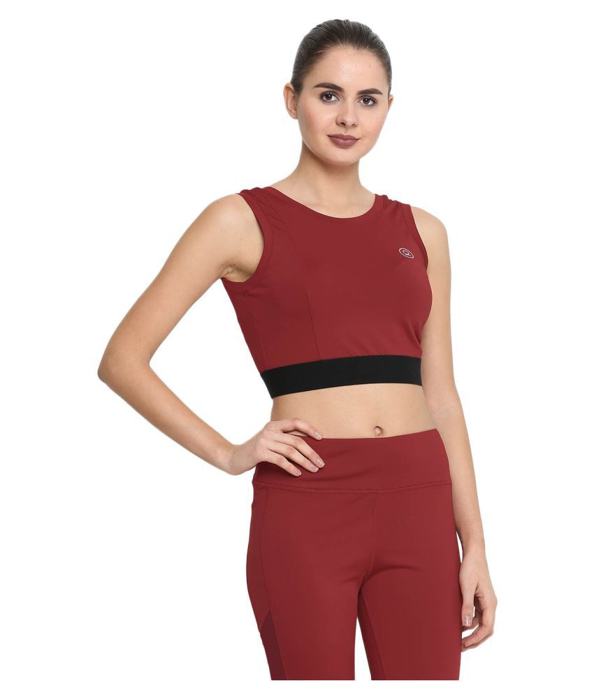 CHKOKKO Yoga Pushup Sports Gym Strechable Crop Top for Women
