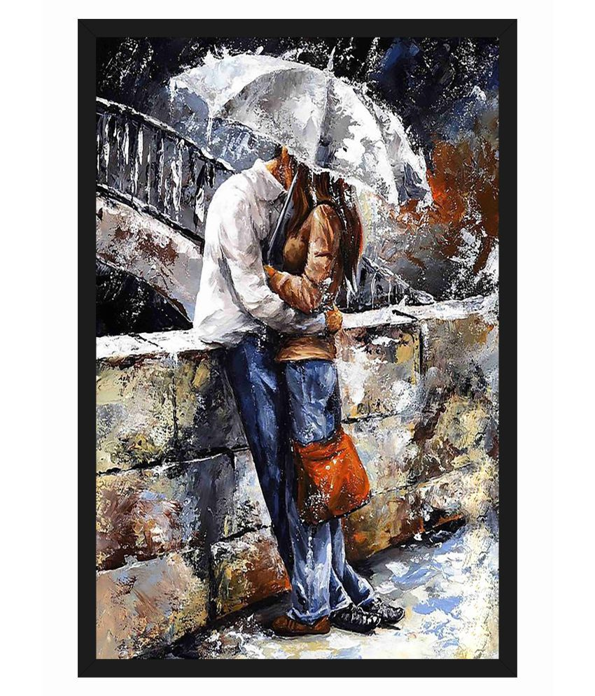 HK PRINTS Hot and Beautiful Lady Painting With Frame 14X20 Inch Wood Painting With Frame