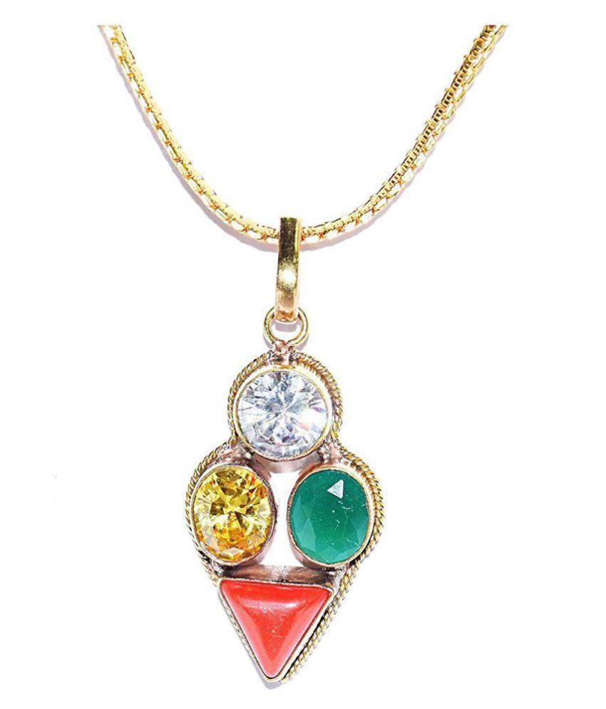 Leo Zodiac Self Certified Multicolor 100% Original semi precious Gemstone Prosperity Pendant For Unisex …