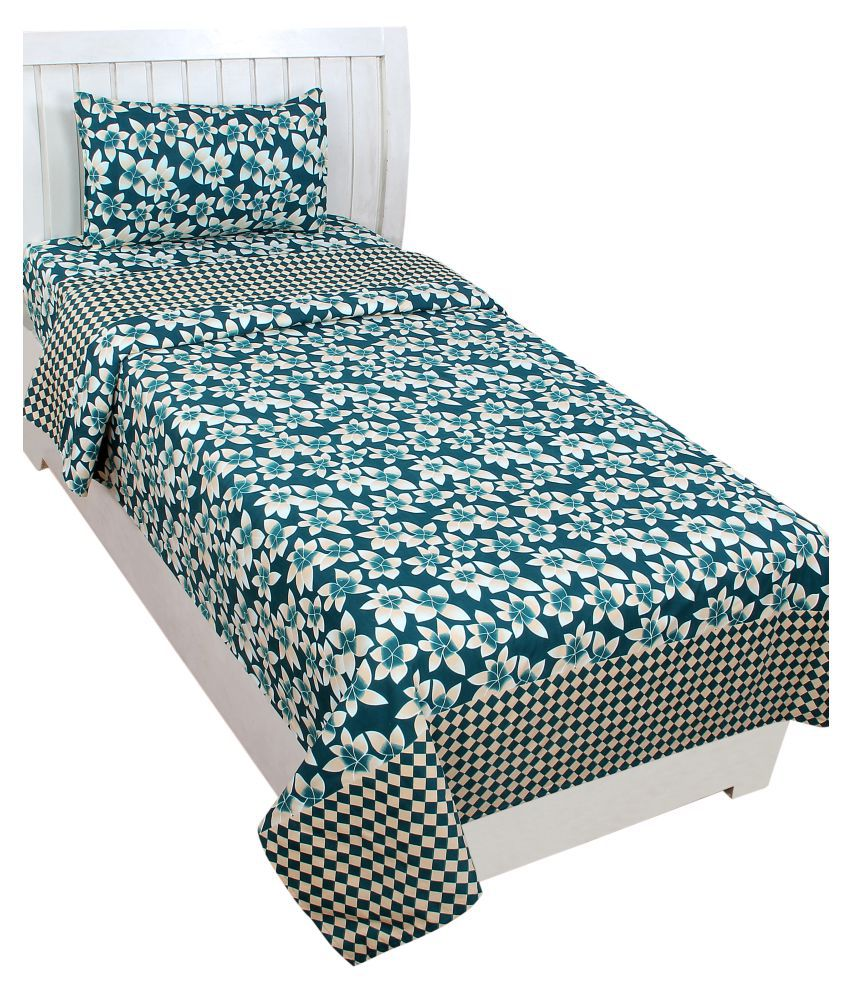 4514f130be Trendz Home Furnishing Glace Cotton Single Bedsheet with 1 Pillow Cover -  Buy Trendz Home Furnishing Glace Cotton Single Bedsheet with 1 Pillow Cover  Online ...