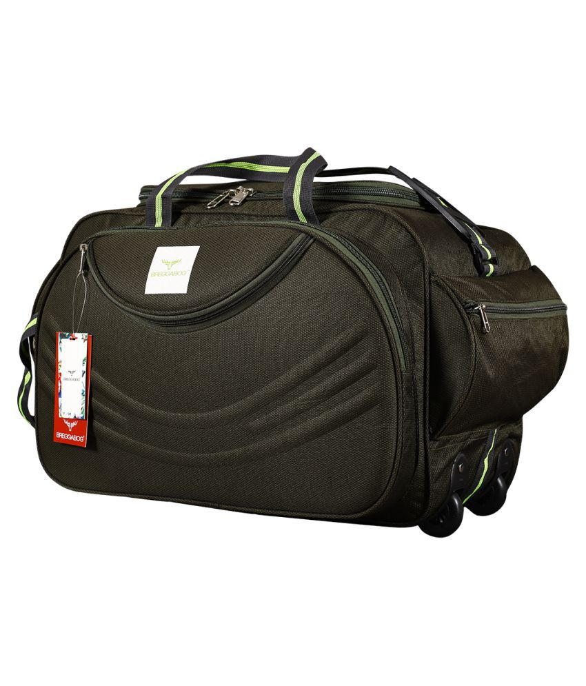 BREGGABOG Dark Green Solid Duffle Bag
