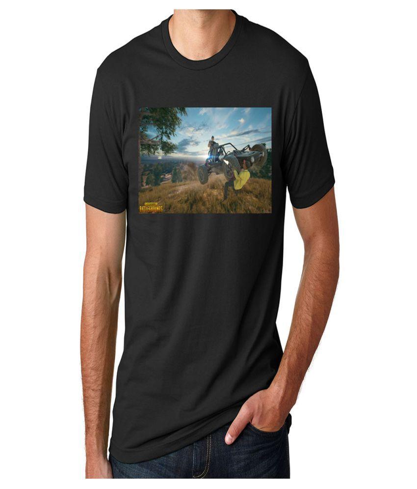 DINKCART Black Half Sleeve T-Shirt Pack of 1