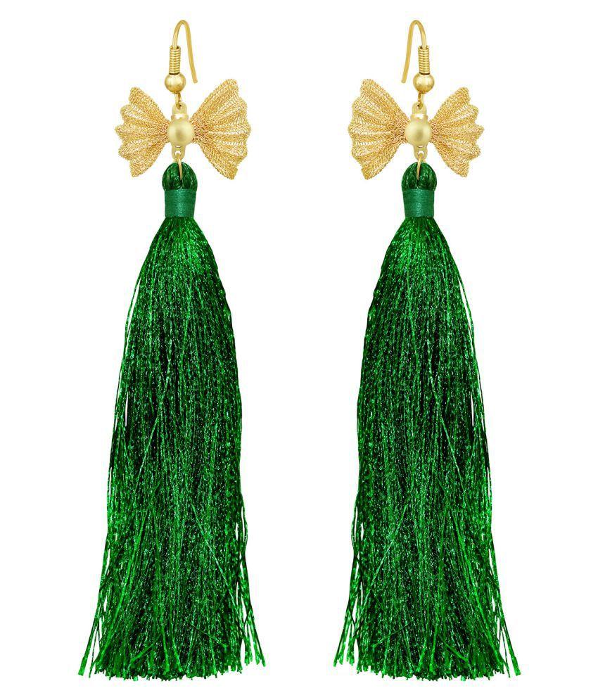 Spargz Butterfly Gold Plated Tassel Earring For Women