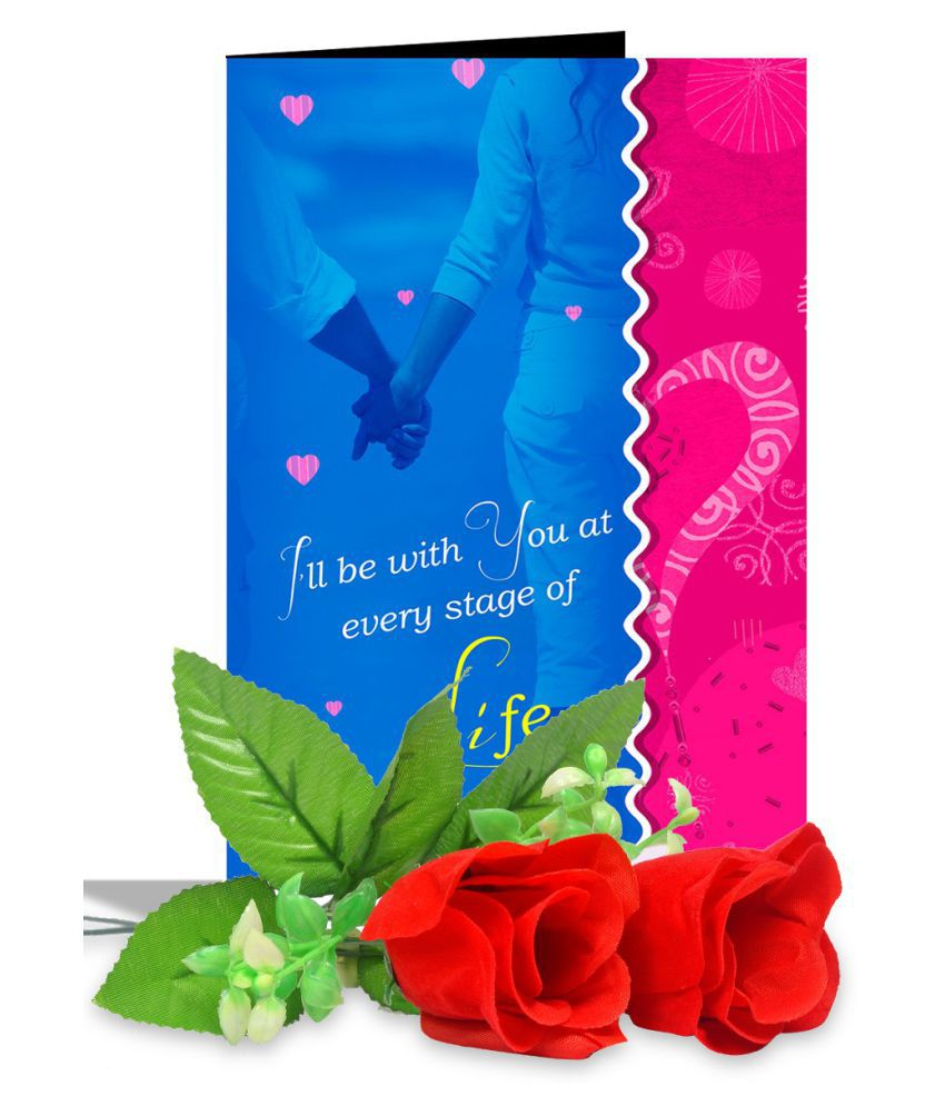 AlwaysGift Paper Valentine Hamper Multicolour - Pack of 3