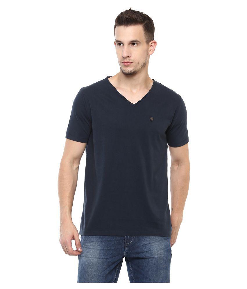 Elaborado Blue Half Sleeve T-Shirt