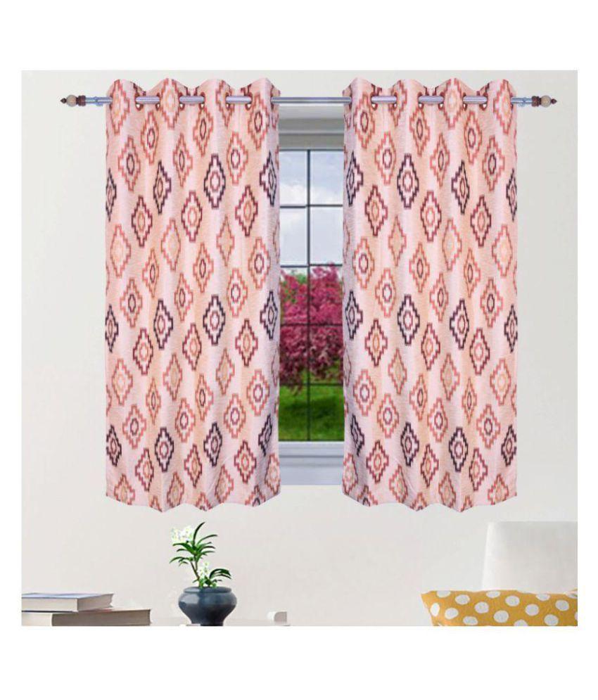 PardaOnline Single Door Semi-Transparent Eyelet Blends Curtains Beige