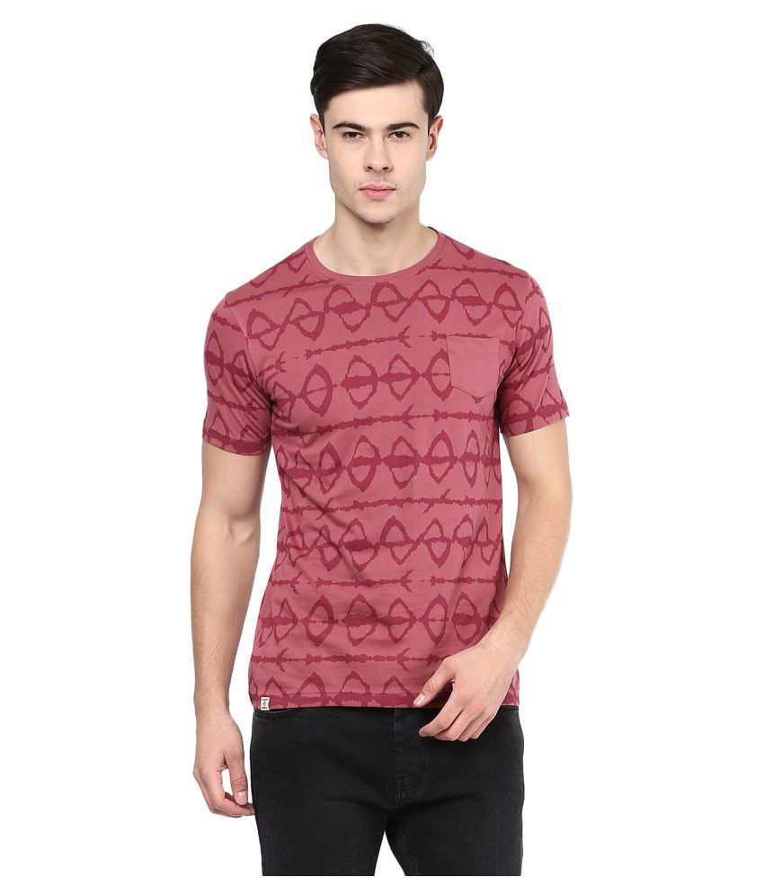 Elaborado Purple Half Sleeve T-Shirt