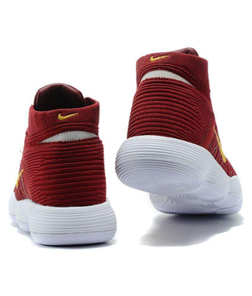 bba04cd79c2 Nike hyperdunk 2018 flyknit Maroon Basketball Shoes - Buy Nike ...