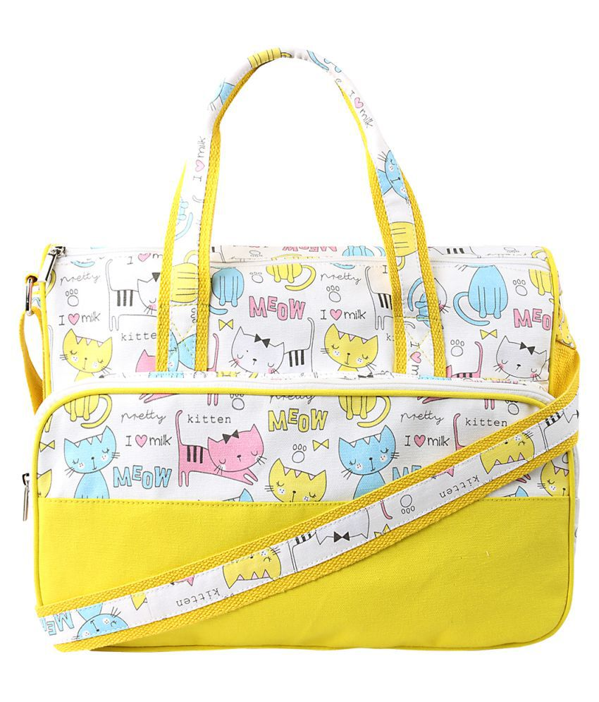 THE HOUSE OF GANGES Yellow Canvas Shoulder Bag